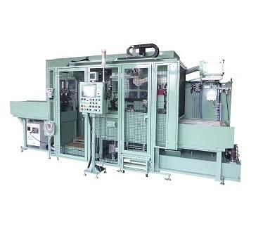 コンロッド ドリル・タップ・リーマーATC付全自動加工インデックスマシン(自動計測・ロボット搬送付)